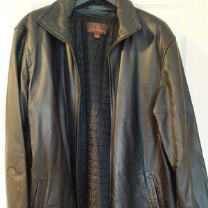 DANIER Black Genuine Men Leather Jacket Coat 2XL
